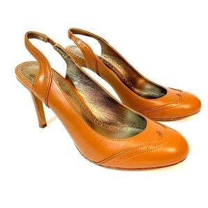 Brooks brothers leather sling back heels